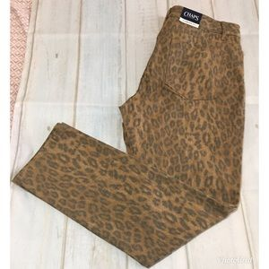 Chaps Slimming Fit Jeans Animal Print Size 14